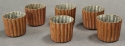 A set of six 19th Century copper moulds - picture 2