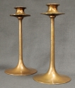A pair of Arts & Crafts bronze candlesticks - picture 1