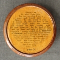 An oak 'double disc' circular snuff box - picture 2