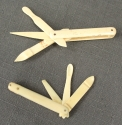 Two 19th Century bone snuff utensils - picture 1