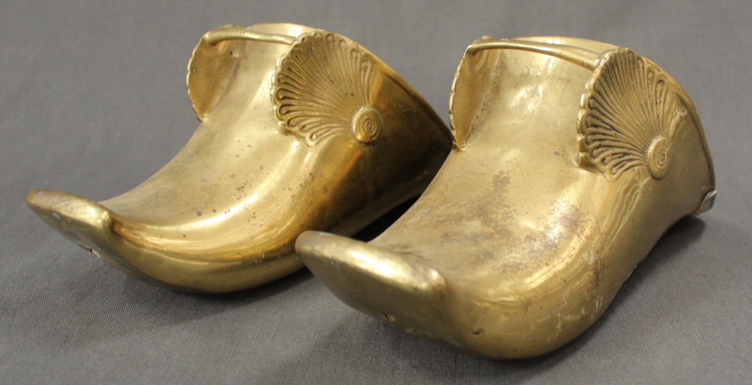 A pair of 'Conquistador' brass stirrups