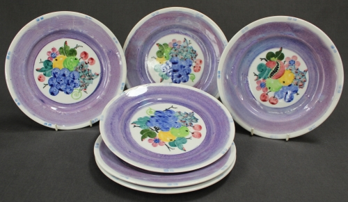 A set of six Mak'Merry dessert plates