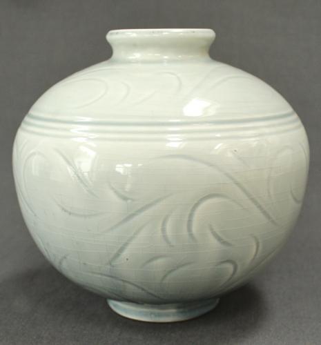 A celadon vase by Alistair Macduff