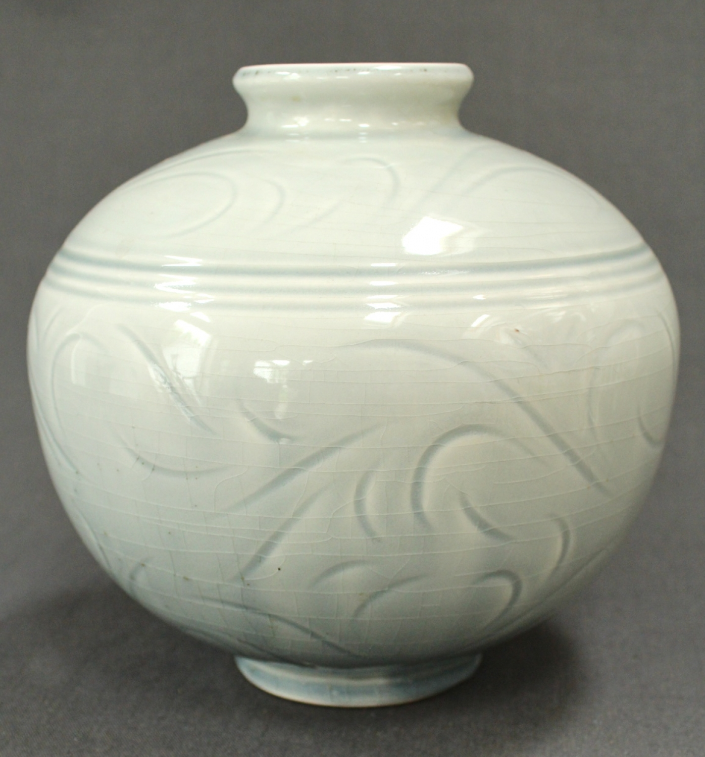A celadon vase by Alistair Macduff