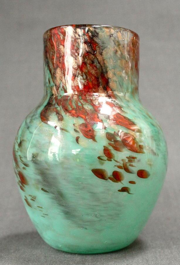 A Monart baluster vase