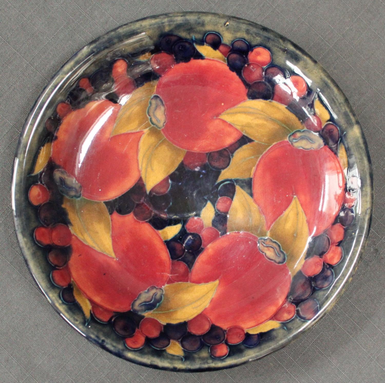 A Moorcroft circular shallow dish