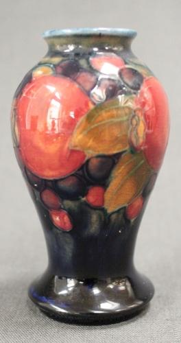 A small Moorcroft vase