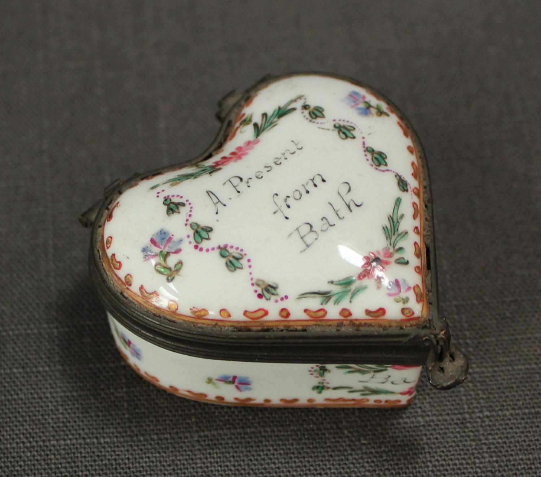 A Samson heart shaped patch box