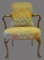 A walnut framed open elbow chair - picture 2