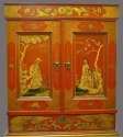 An attractive red lacquered cabinet - picture 2