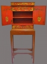 An attractive red lacquered cabinet - picture 3