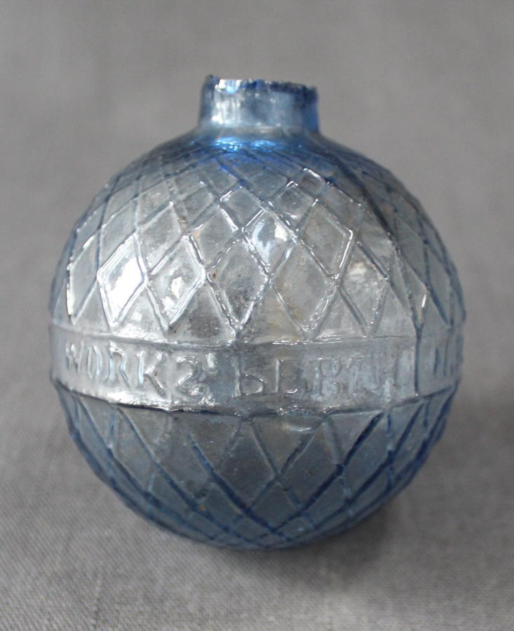 A scarce Victorian glass target ball