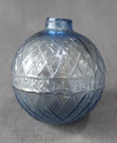 A scarce Victorian glass target ball