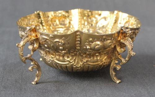 A Victorian silver-gilt sugar bowl