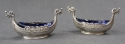 A pair of Viking long ship salt cellars - picture 1