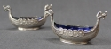 A pair of Viking long ship salt cellars - picture 2