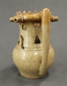 A buff glazed puzzle jug - picture 4