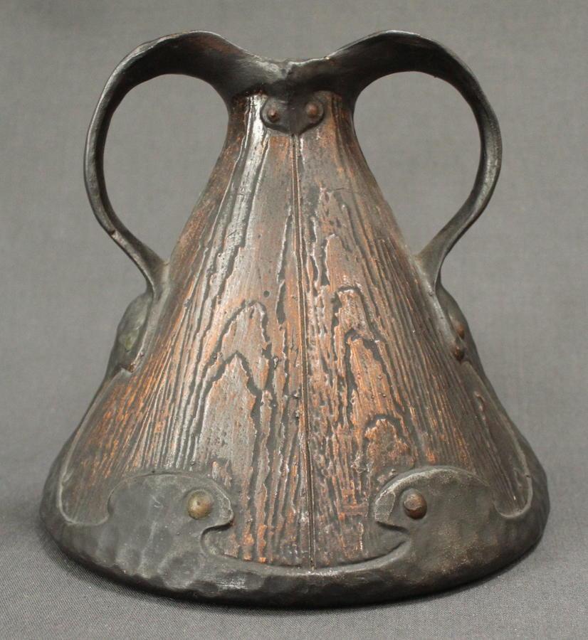 A Bretby 'faux bois' tapering vase