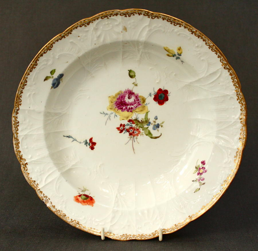 An 18th Century Meissen soup plate
