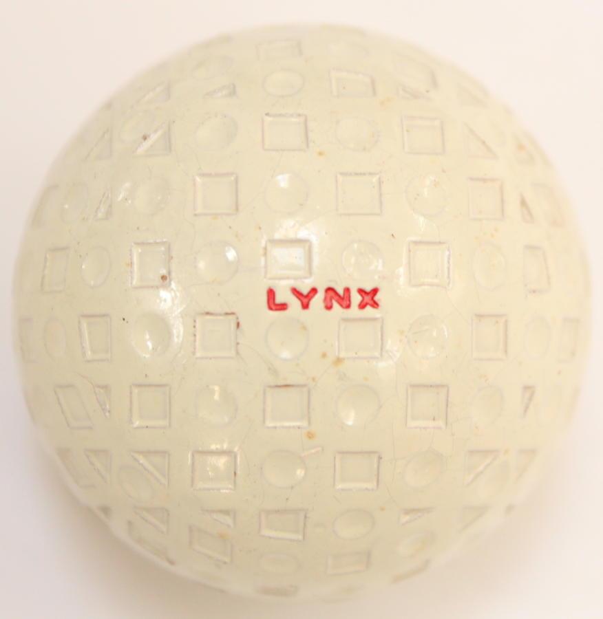 A Lynx vintage golf ball
