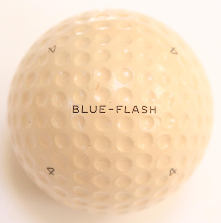 A Blue Flash No. 4 vintage golf ball