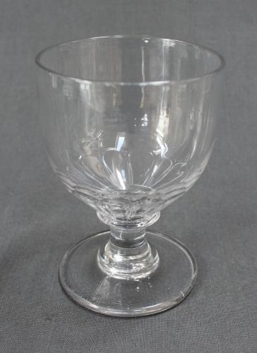 A mid Victorian glass rummer