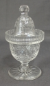 A clear glass sweetmeat jar - picture 1