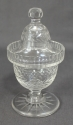A clear glass sweetmeat jar - picture 2