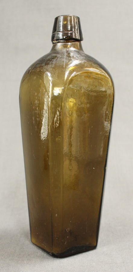A Geo. III glass Gin bottle