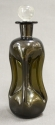 A green glass waisted liqueur decanter - picture 1