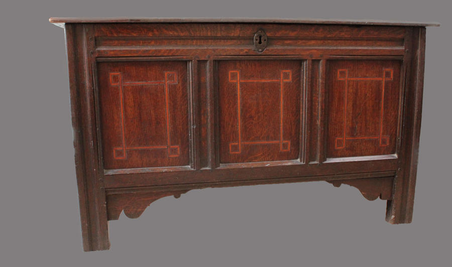 A 17th Century oak blanket chest