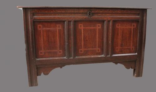A 17th Century oak blanket chest