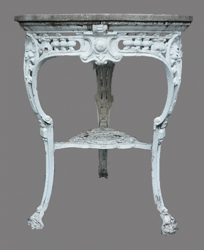 A Victorian cast metal 'pub' table