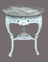 A Victorian cast metal 'pub' table - picture 2