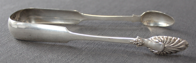 A pair of Scottish silver sugar tongs