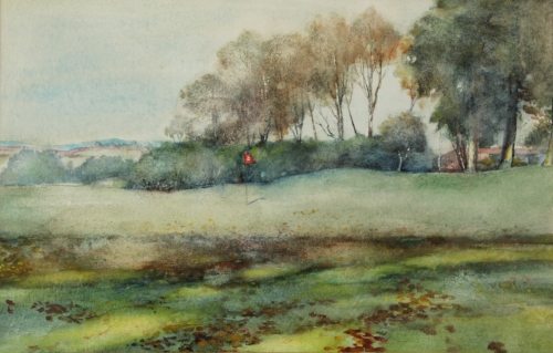 A golfing watercolour