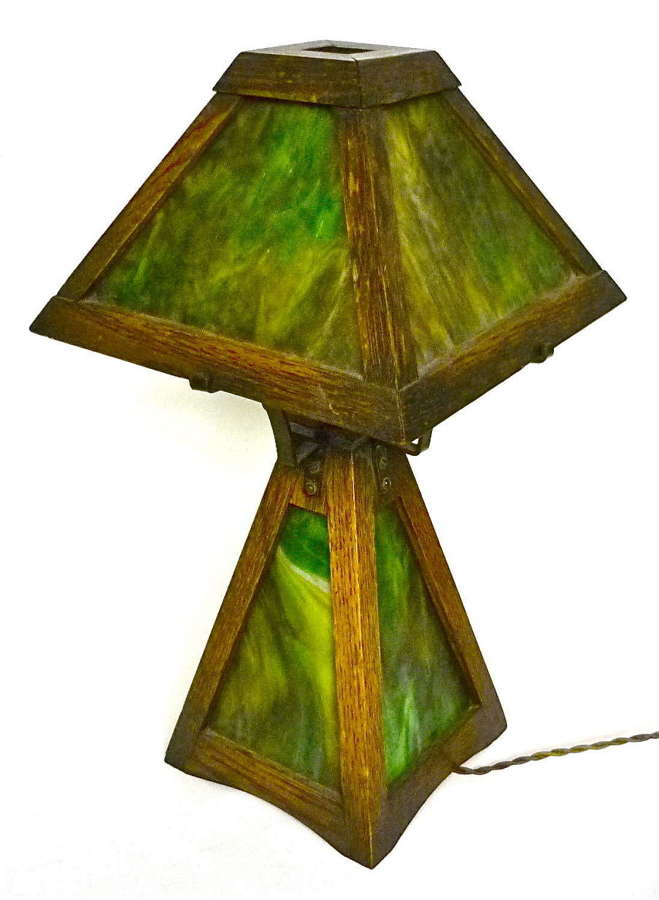 An American Mission period lamp