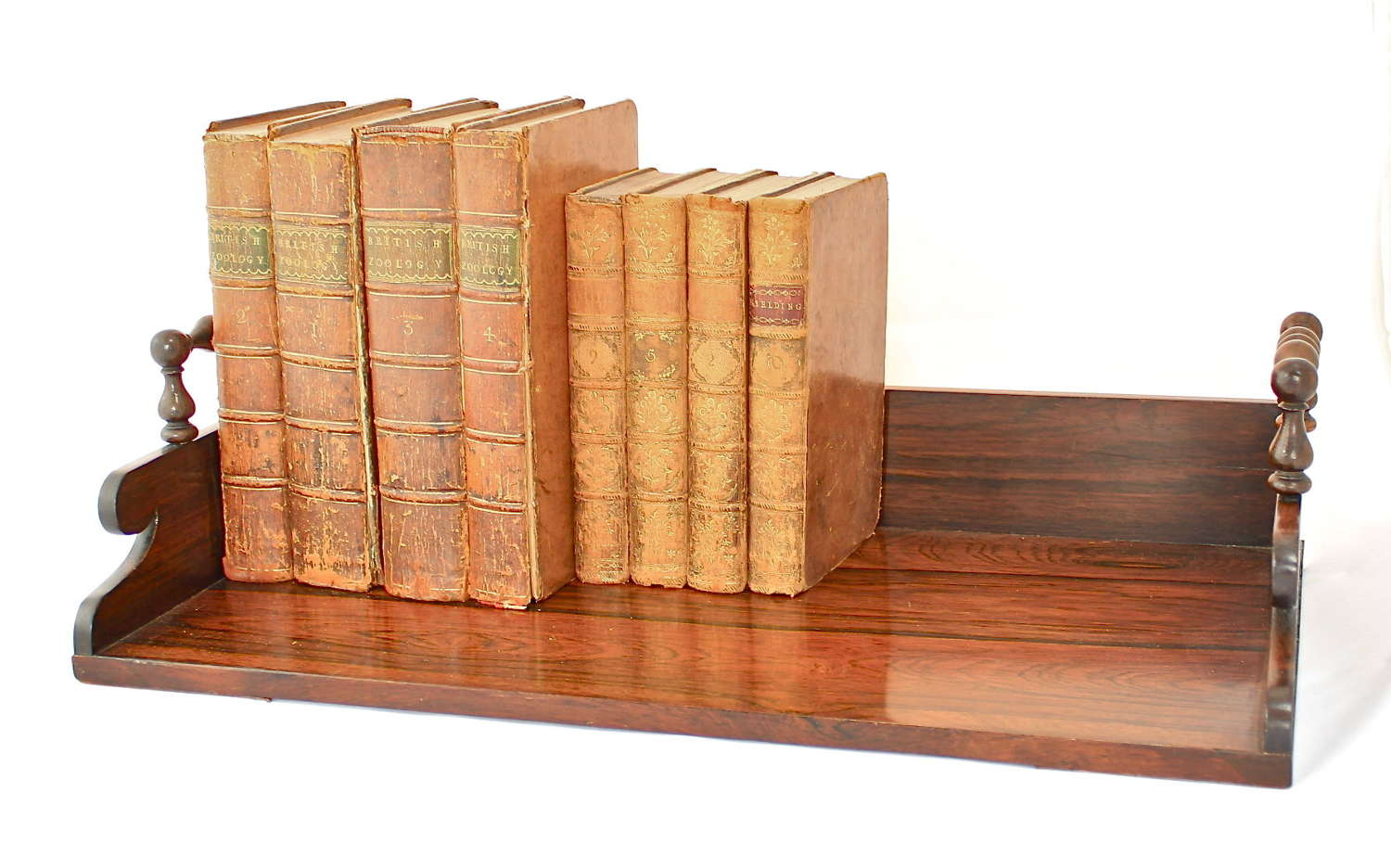 A post Regency rosewood book tray