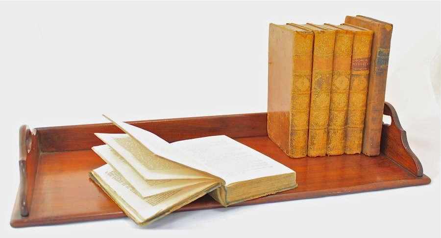 A late George III mahogany book tray