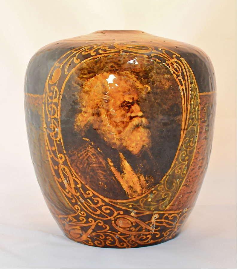 A scarce Doulton 'Rembrandt Ware' vase