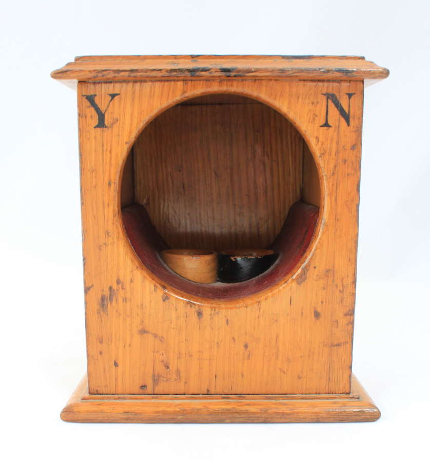 Victorian light oak ballot box