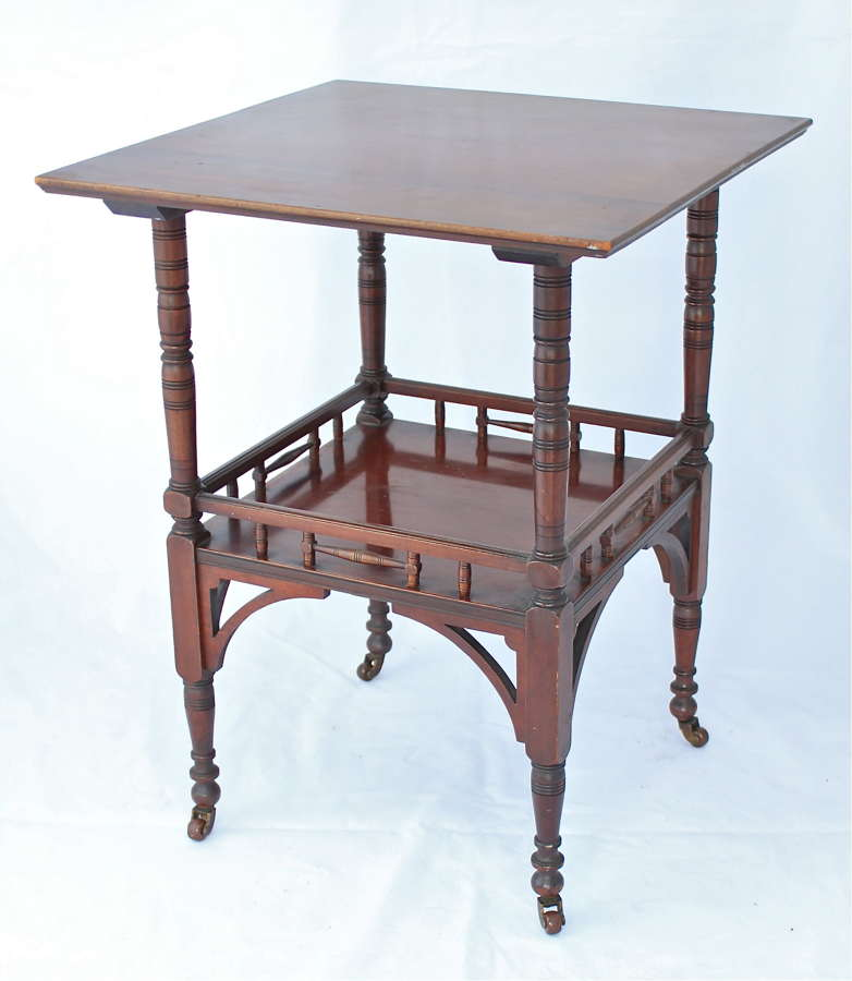 An Arts & Crafts E. W. Godwin mahogany table