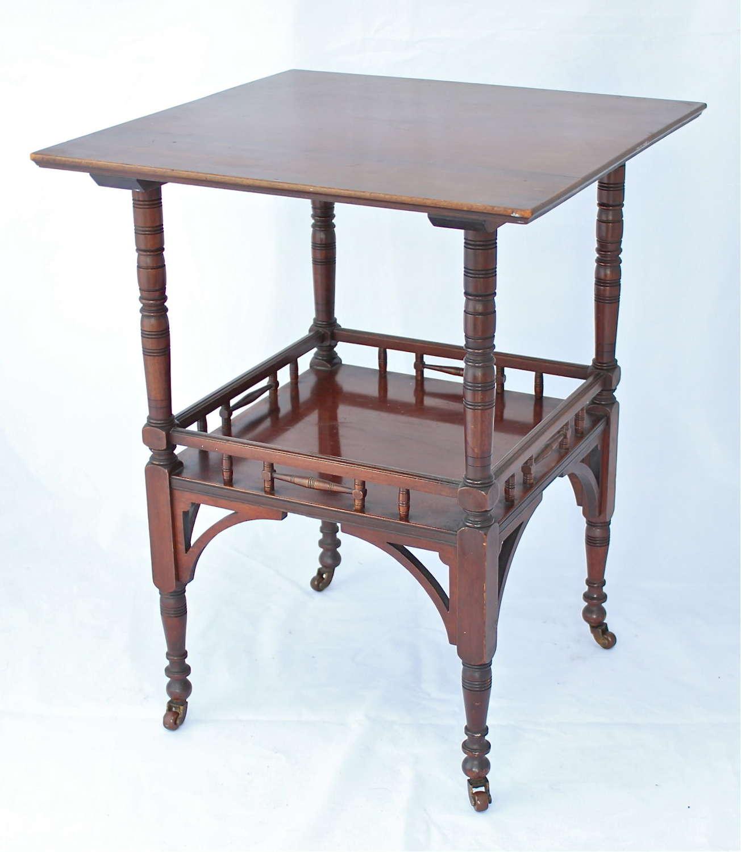 An Arts & Crafts E. W. Godwin mahogany table