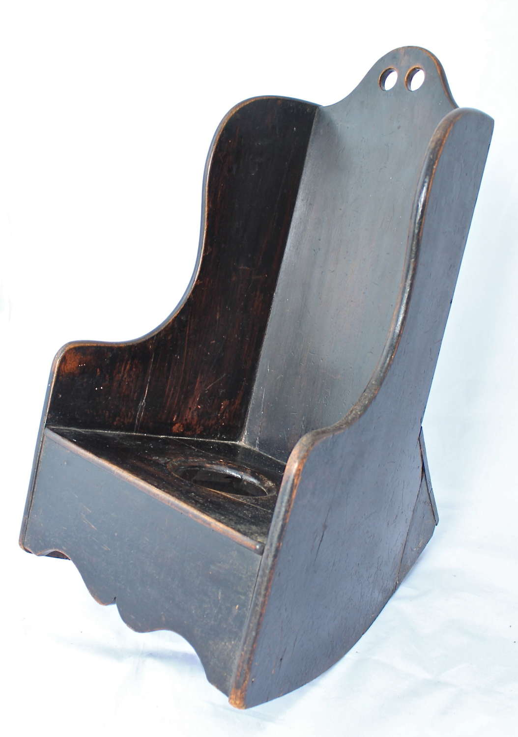 A George III childs mahogany rocking chair