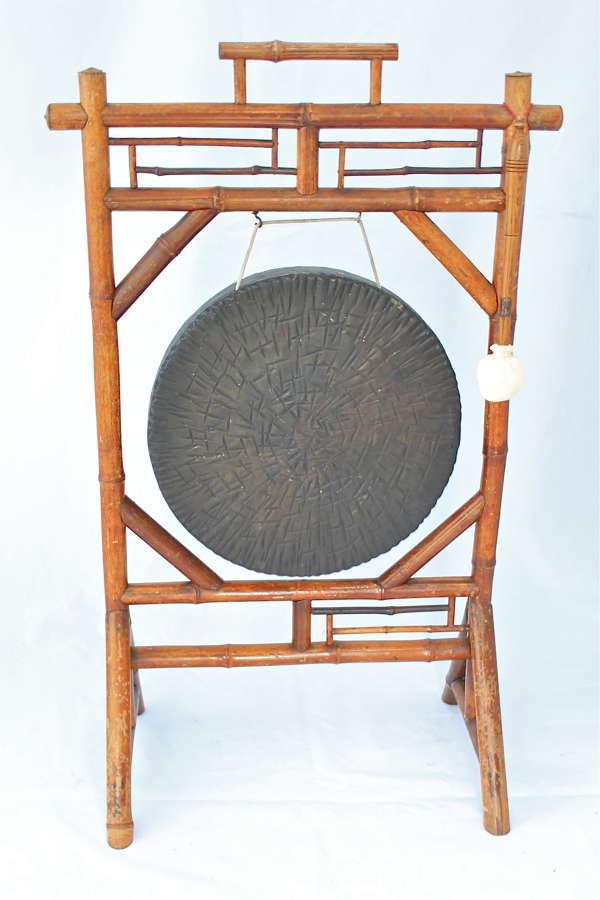 A Victorian bamboo dinner gong