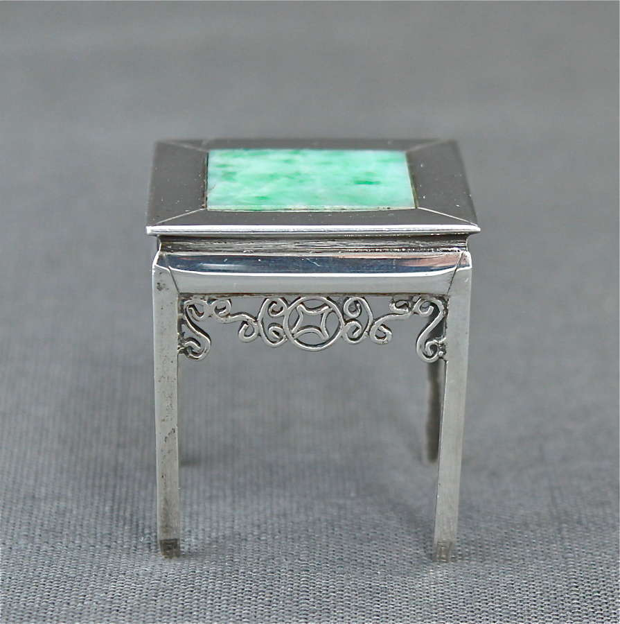 A Wang Hing & Co. Silver Miniature Table