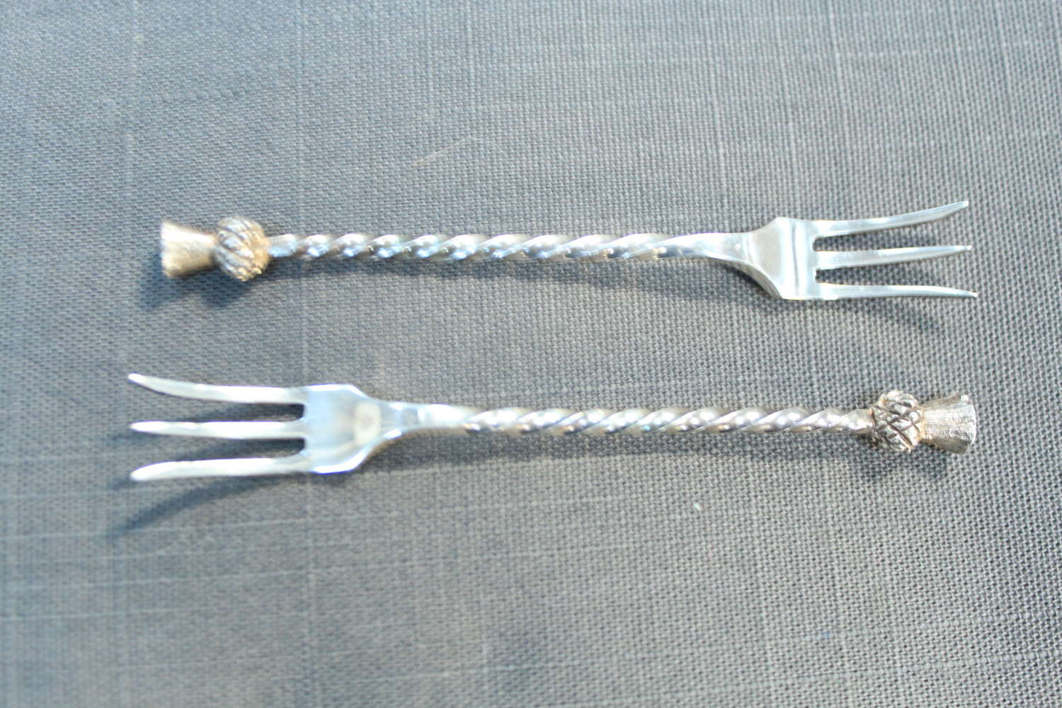 A pair of Plated Pickle Forks