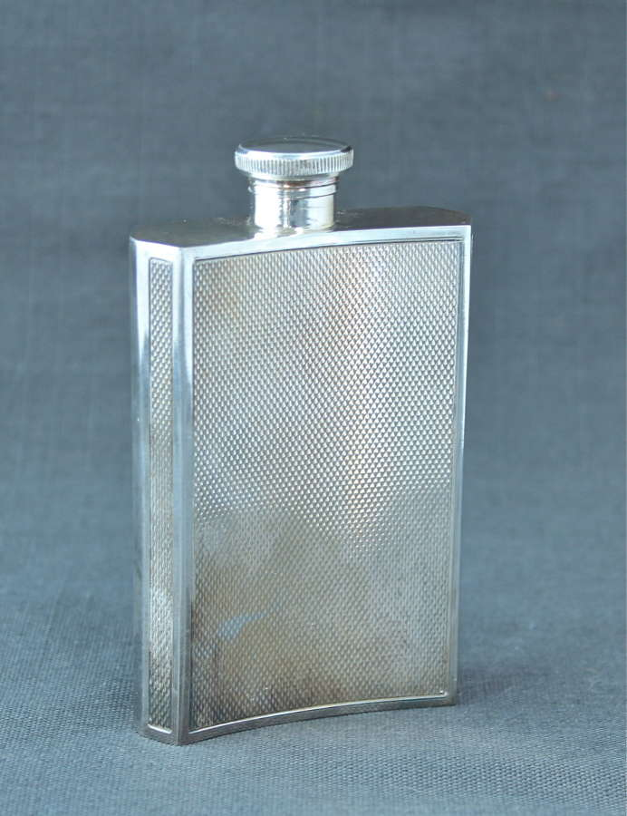 An Art Deco Plated Hip Flask