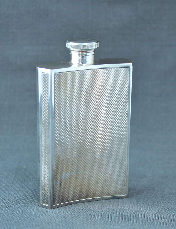 An Art Deco Plated Hip Flask